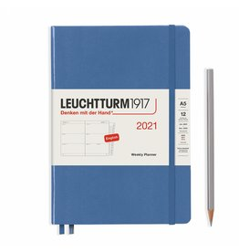 Leuchtturm 2021 A5 Denim Hardcover Weekly Planner