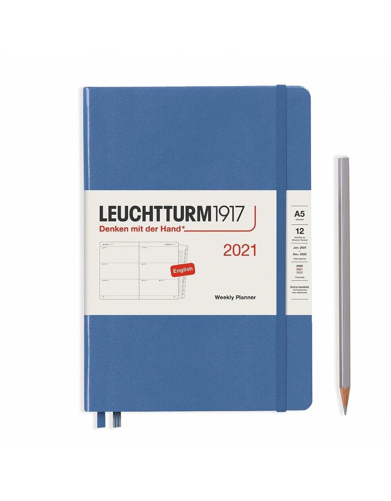 Leuchtturm 2021 A5 Denim Hardcover Weekly Planner
