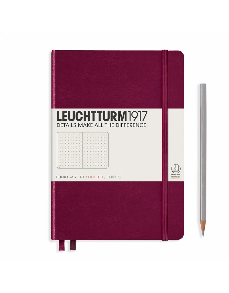 Leuchtturm A5 Port Red Hardcover Notebook Dotted