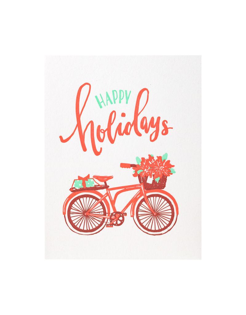 Smudge Ink Red Bicycle Holiday box of 8