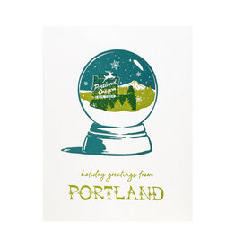 Smudge Ink Portland Snow Globe Letterpress Cards box of 8