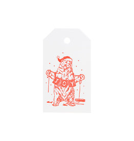 Smudge Ink Holiday Bears Gift Tags set of 8