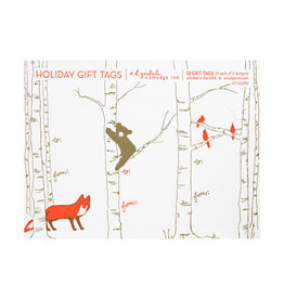 Smudge Ink Goodall Letterpress Holiday Tags set of 12