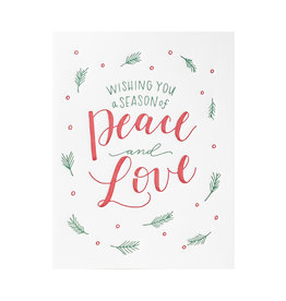 Ink Meets Paper A Season of Peace and Love Box of 6