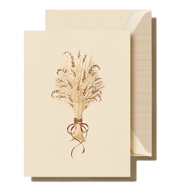 Crane Engraved Harvest Wheat Holiday Boxed Notes