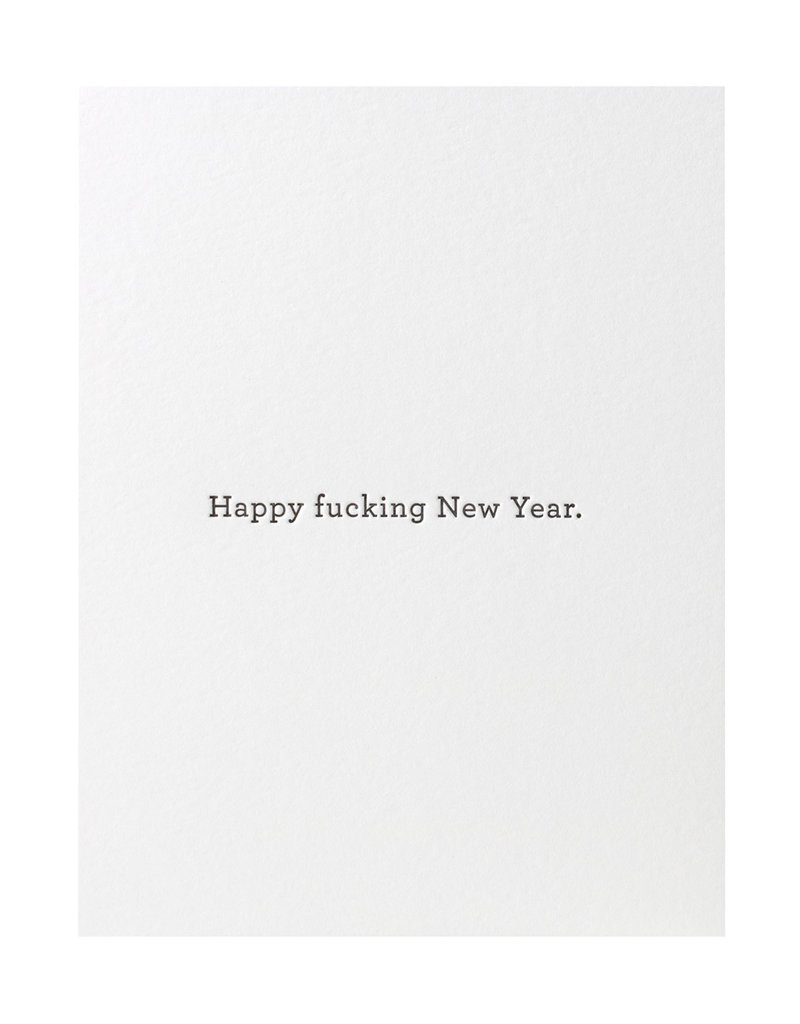 Huckleberry Letterpress Happy F***ing New Year