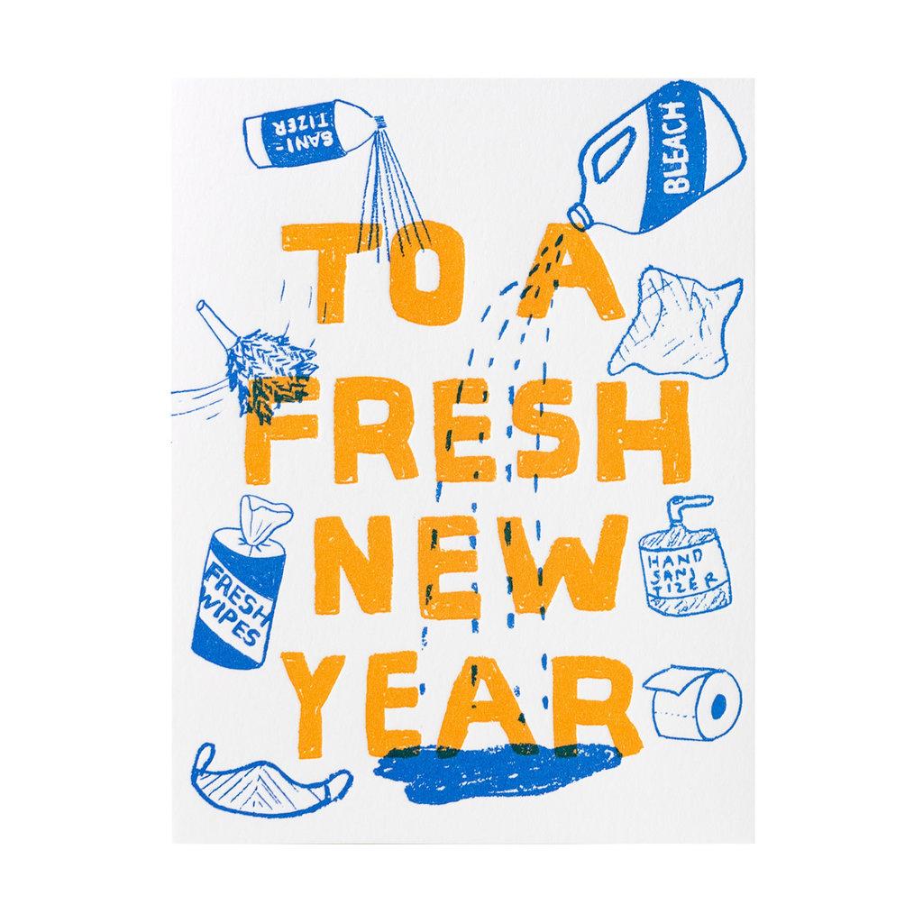 Egg Press Fresh New Year Letterpress Card