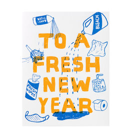 Egg Press Fresh New Year Letterpress Card