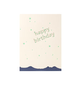Lark Press Happy Birthday Constellation Letterpress Card