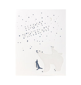 Lark Press Polar Bear Birthday Letterpress Card