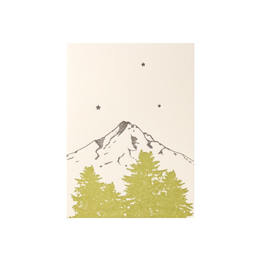 Lark Press Mt Hood Letterpress Card
