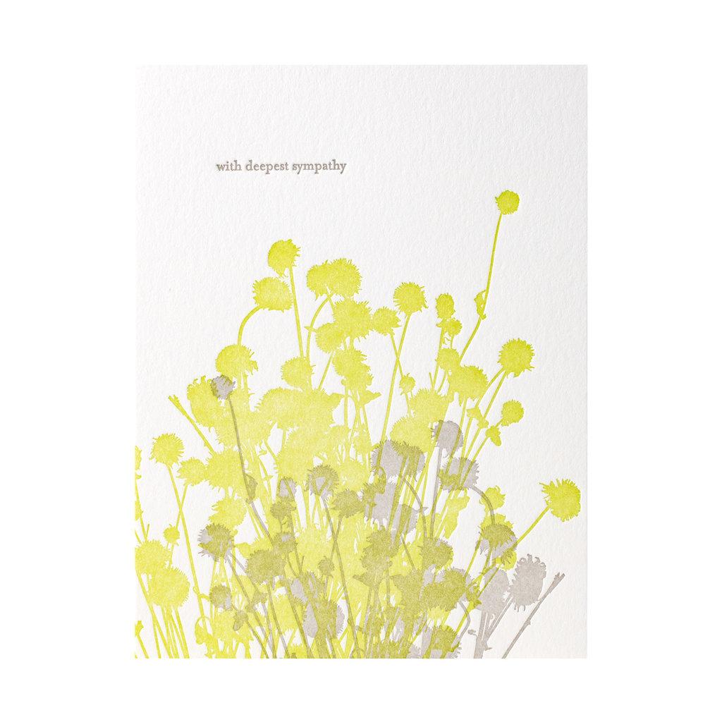Lark Press Thistles Sympathy Letterpress Card