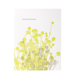 Lark Press Thistles Sympathy Letterpress Card