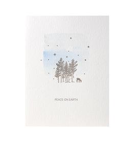 Lark Press Deer Peace on Earth Letterpress Cards box of 6
