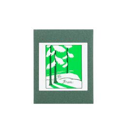 Saturn Press Snow on Greens adhesive labels