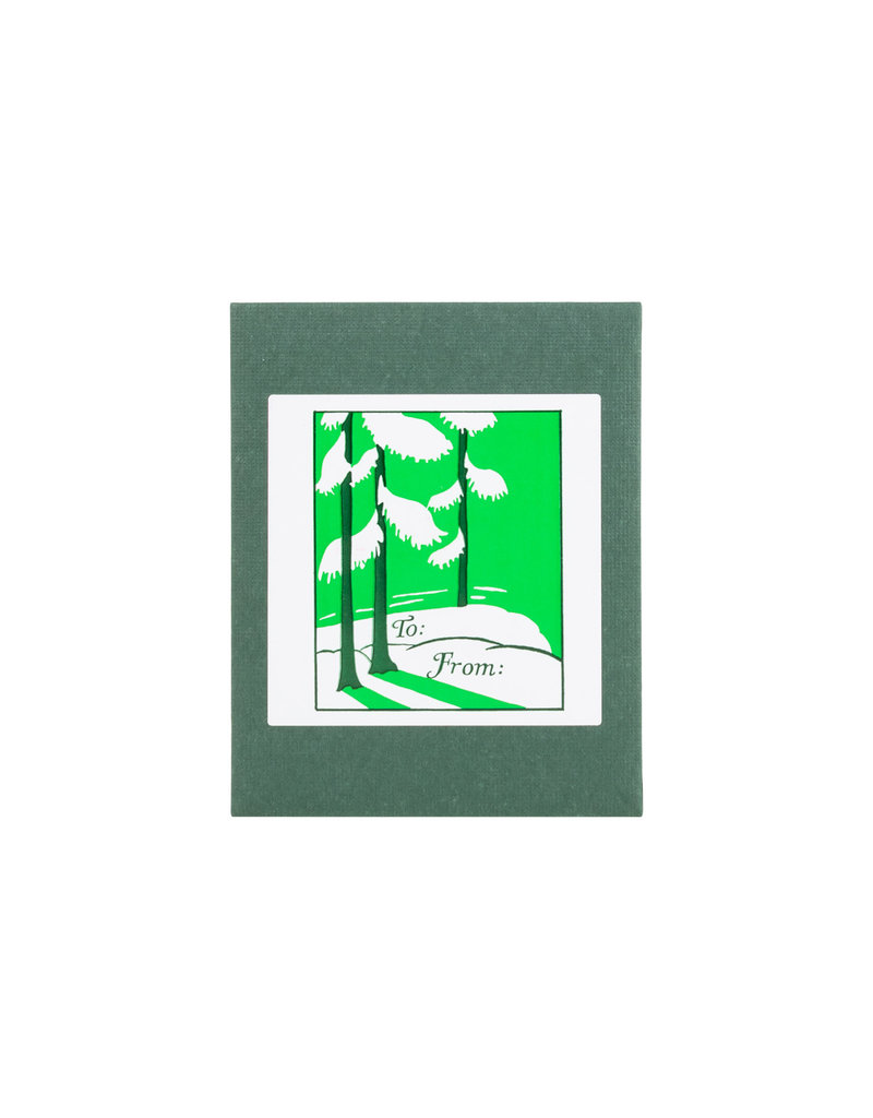 Snow on Greens adhesive labels