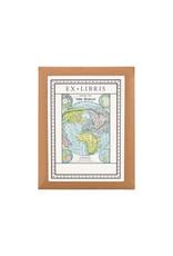 cavallini World Map Bookplates