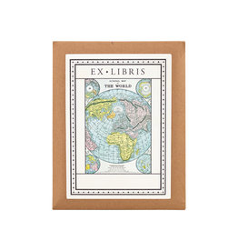 cavallini World Map Bookplates
