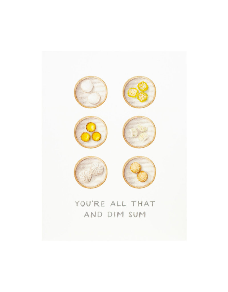 Amy Zhang All That And Dim Sum Congrats Card