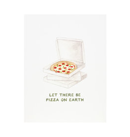Amy Zhang Pizza On Earth Holiday Card