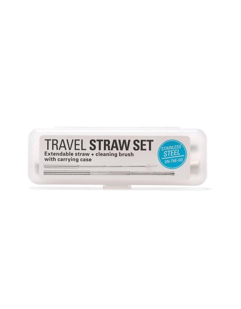 Kikkerland Travel Straw Set