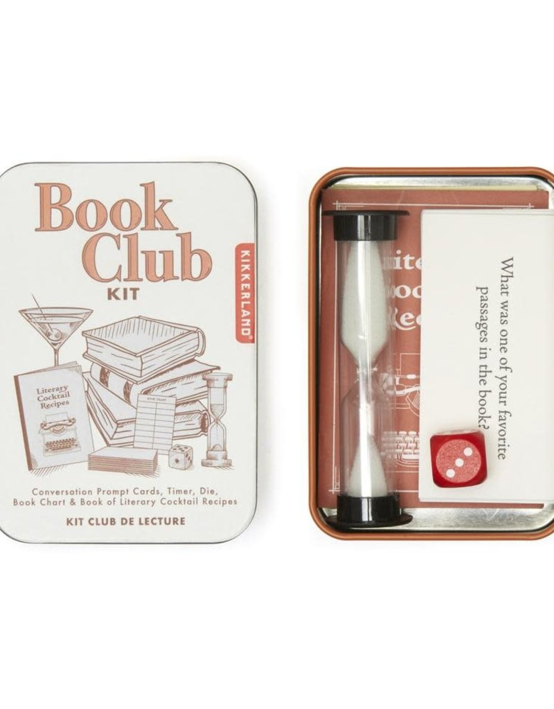 Kikkerland Book Club Kit Tin