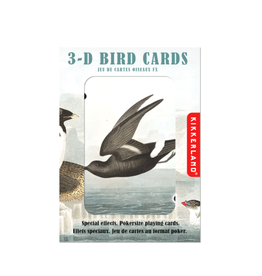 Kikkerland 3-D Birds Playing Cards