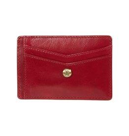 Hobo Simi Credit Card Wallet - Garnet