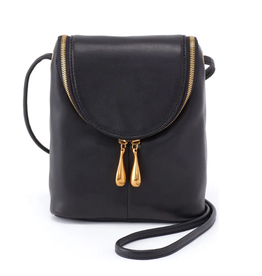 Hobo Fern  Crossbody Bag - Black