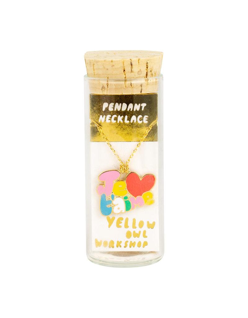 Yellow Owl Workshop Je T'Aime Letters Pendant