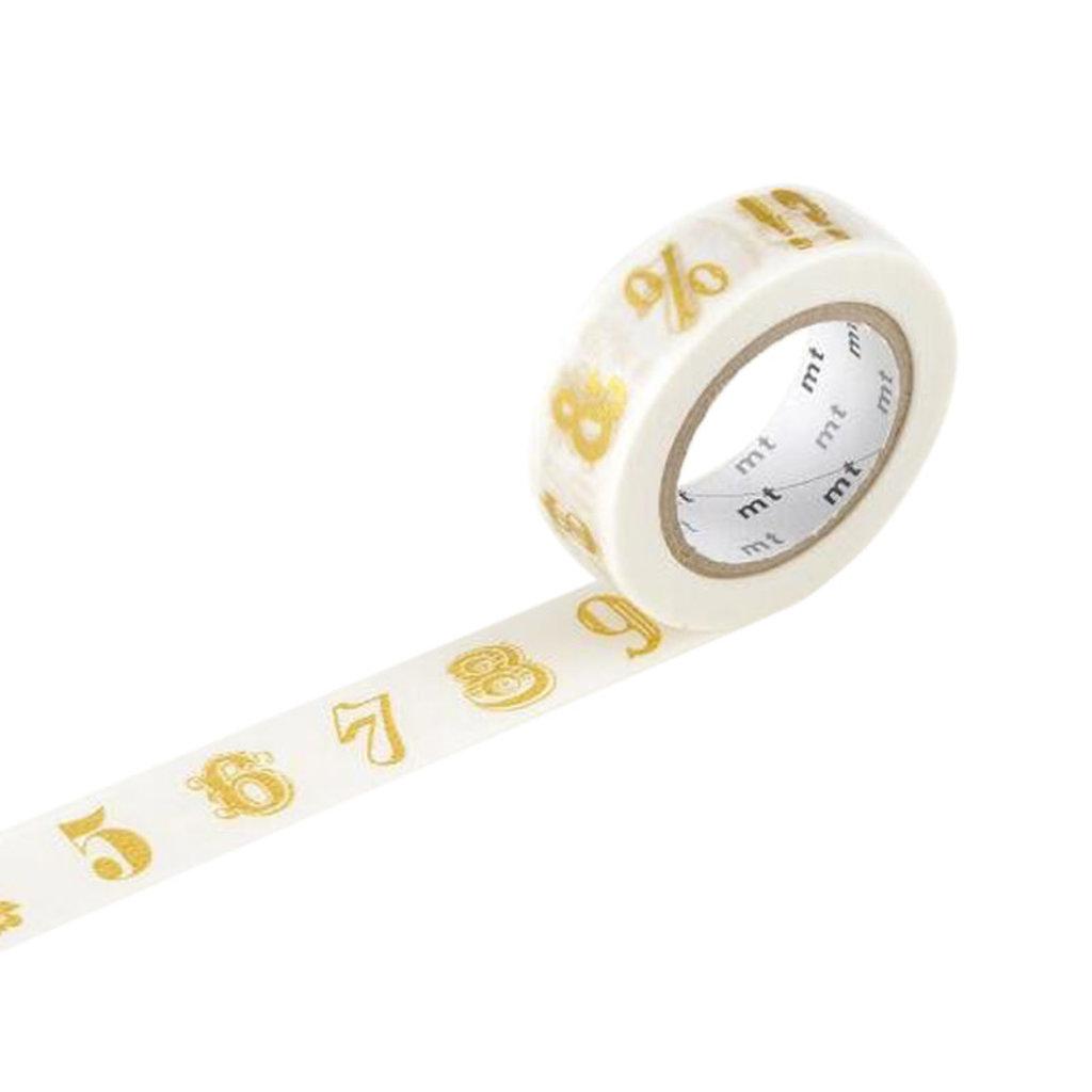 Number/Symbol Gold Washi Tape