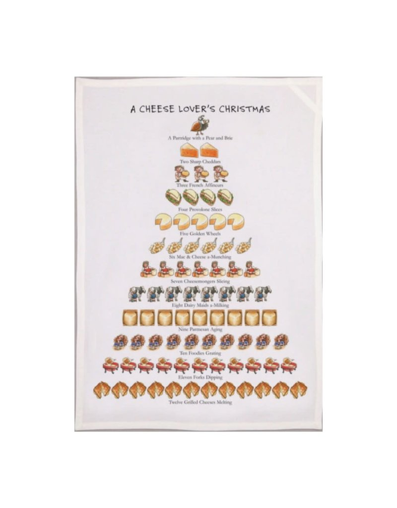 Allport Editions A Cheese Lover's Christmas Tea Towel