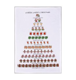 Allport Editions A Beer Lover's Christmas Tea Towel