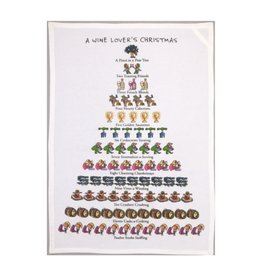 Allport Editions A Wine Lover's Christmas Tea Towel