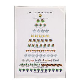 Allport Editions An Oregon Christmas Tea Towel