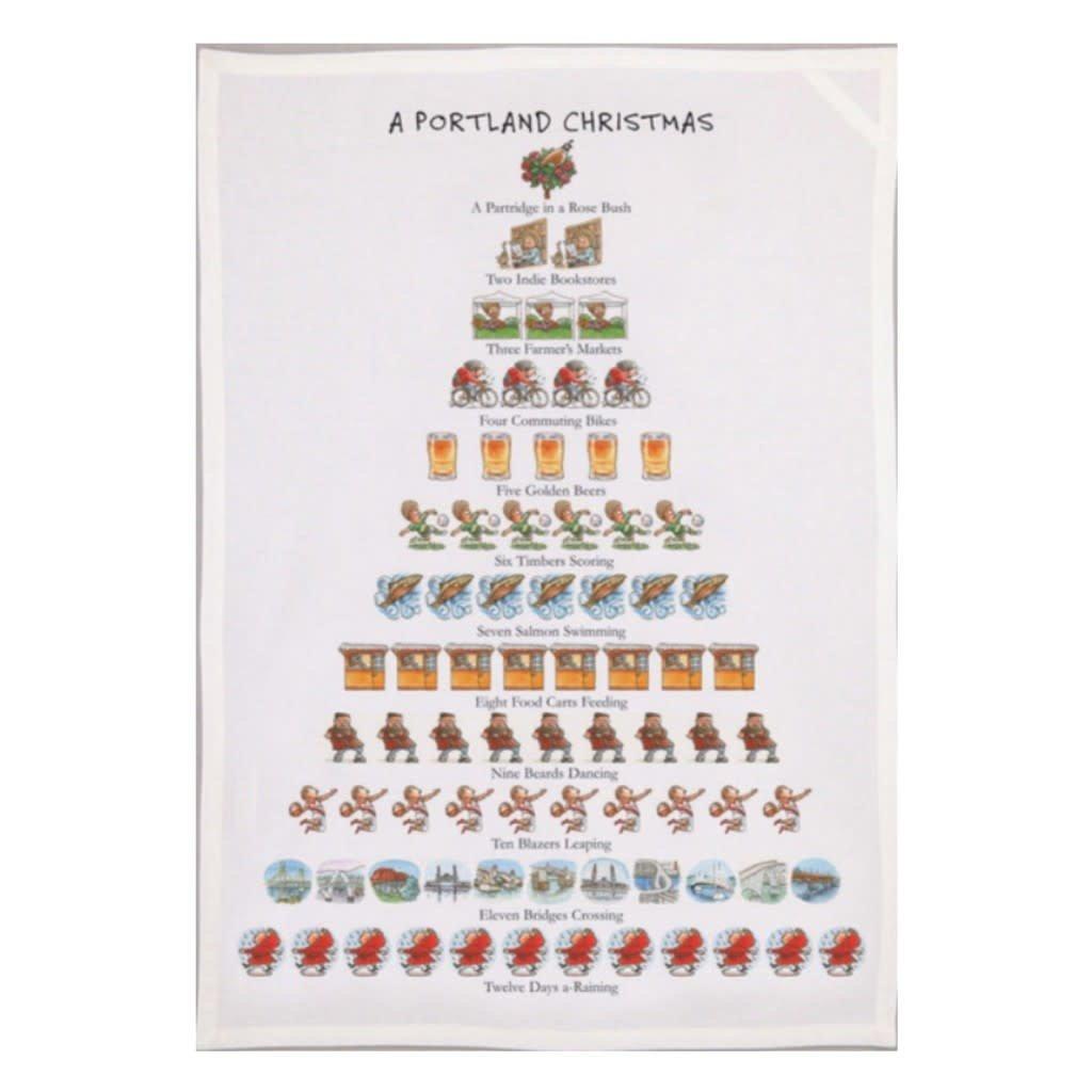 Allport Editions A Portland Christmas Tea Towel