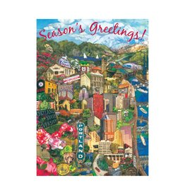 Allport Editions Portland Cityscape Season's Greetings Boxed Notes