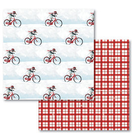 Allport Editions Penguin Bike Reversible Wrap Sheet Pack