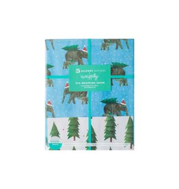 Allport Editions Holiday Elephant Reversible Wrap Sheet Pack