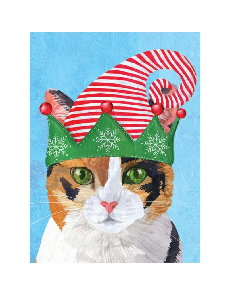 Allport Editions Calico Cat in Hat Holiday Boxed Notes