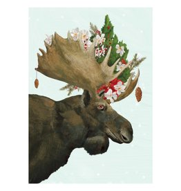 Allport Editions Moose Bouquet Holiday Boxed Notes