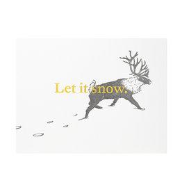 Woodsy Foxman Let It Snow Letterpress Card
