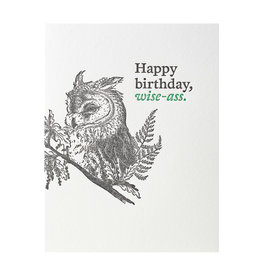 Woodsy Foxman Happy Birthday Wise-Ass Letterpress Card