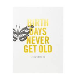Woodsy Foxman Birthdays Never Get Old Letterpress Card