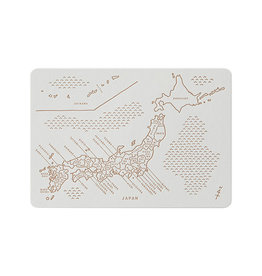 touch & flow letterpress postcard - japan