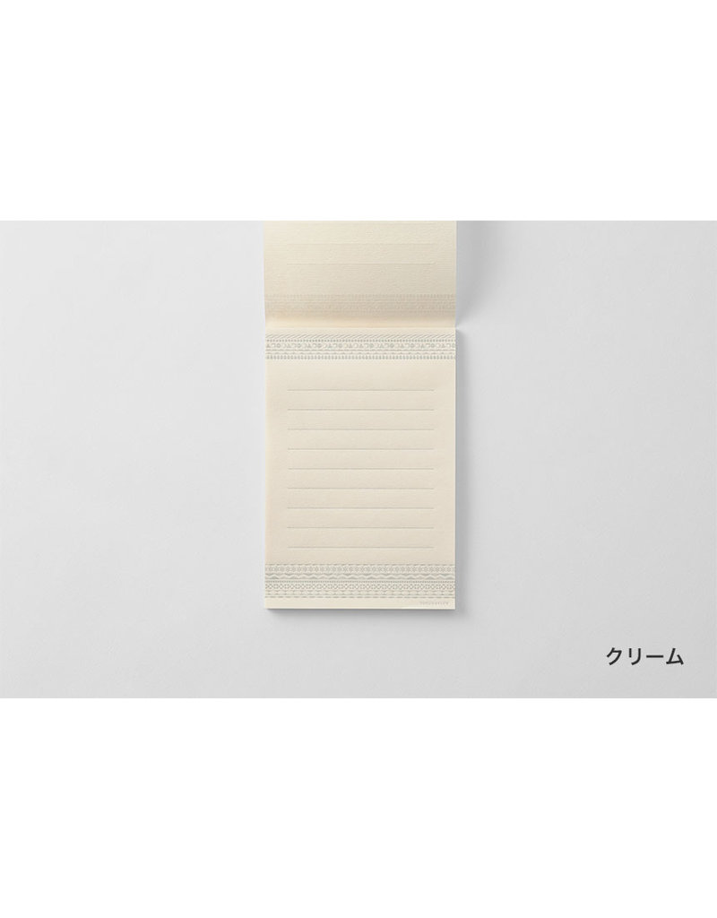 touch & flow letterpress small cream letter writing paper