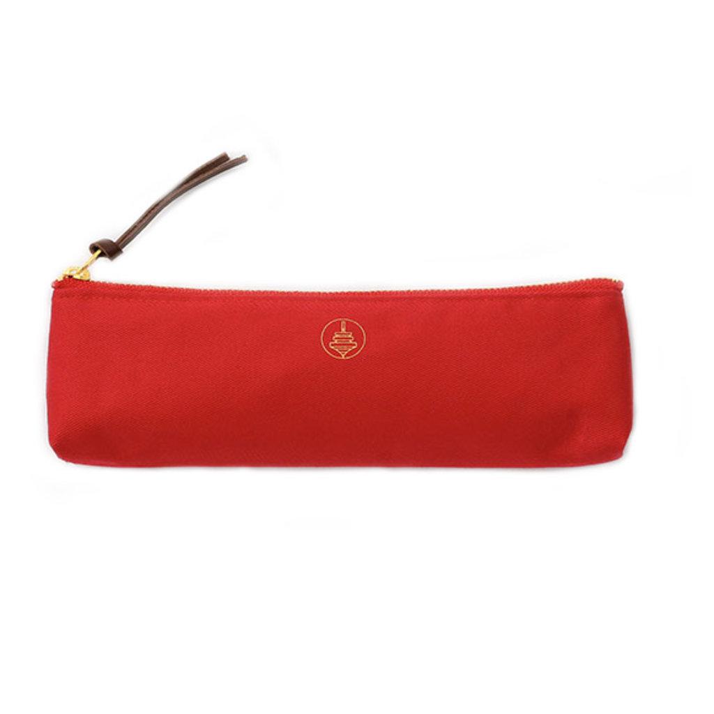 touch & flow Cotton pencil case - red