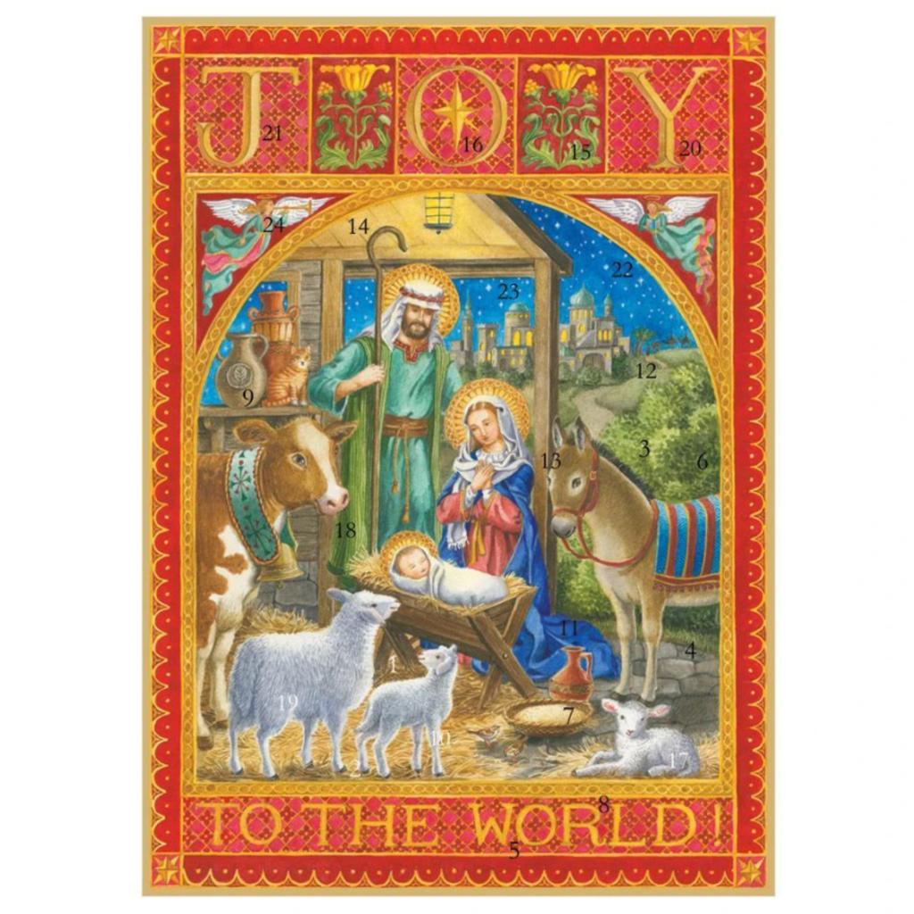 Caspari Joy to the World Advent Calendar