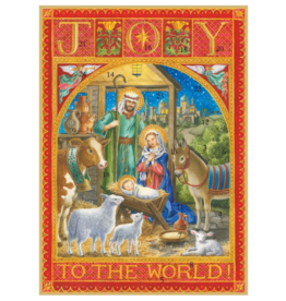 Caspari Joy to the World Advent Calendar