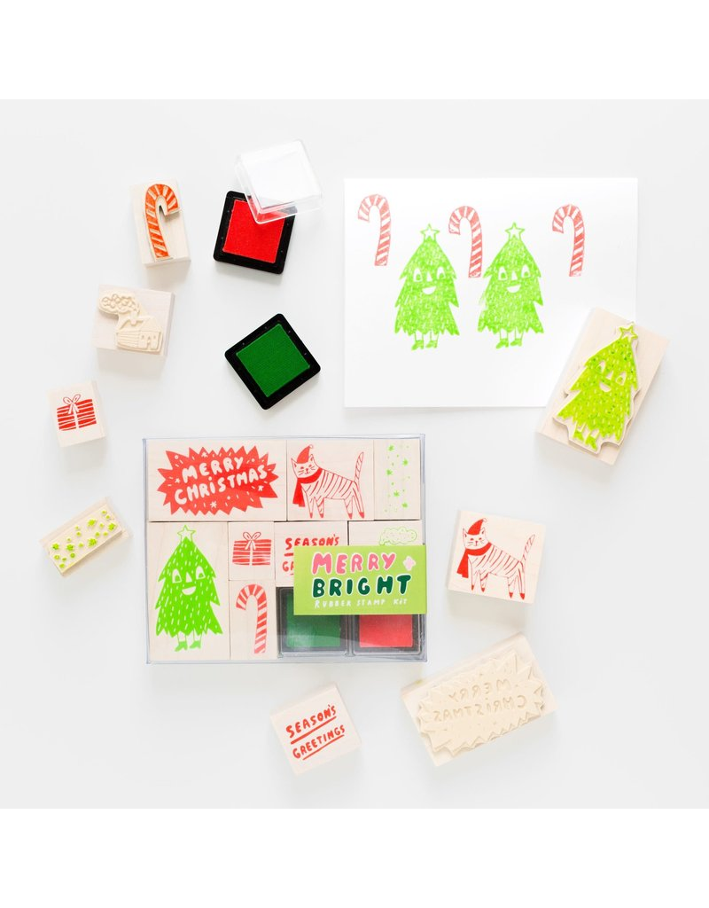 Yellow Owl Workshop Merry and Bright  Stamp Kit